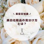 【美容豆知識】美白化粧品の見分け方とは?